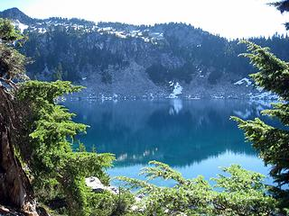a warm bench lake
