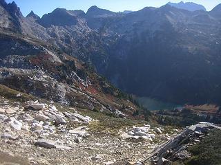 Descent into Canyon Lake