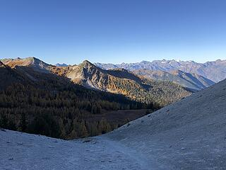 Looking back from Fish Creek Pass