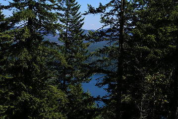 Lake Cushman and Mount Rainier