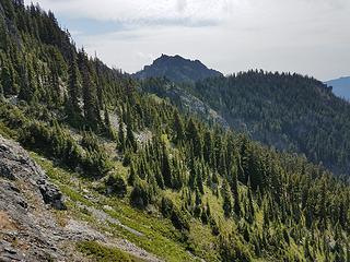 Lobox turtlehead summit from traverse