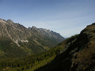 Ingalls Creek valley from Longs Pass