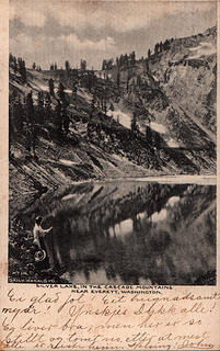 [i:56b0f8abed]Silver Lake, in the Cascade Mountains near Everett, Washington. No. 110 Daily Herald Co.[/i:56b0f8abed] Mailed 1906.