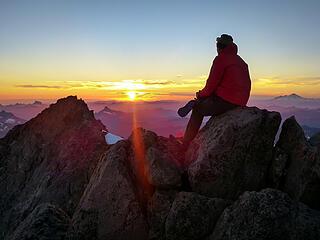Watching the sunset on Glacier Peak