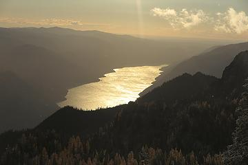 Lake Chelan turned to molten gold