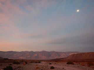 moon over Inyo Range