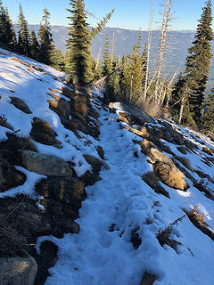 Trail to Dirtyface Peak  11/17/18