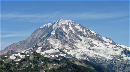 Mt Rainier, as seen from the trail to Tolmie Lookout, 8.1.09.