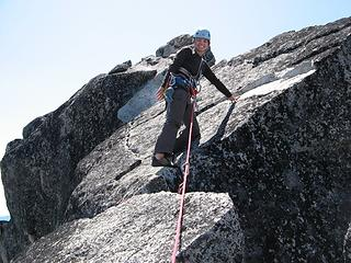 Yana leading the summit slabs