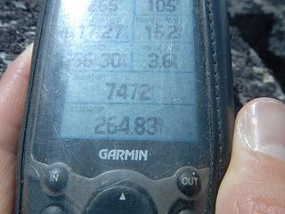 GPS north peak elevation