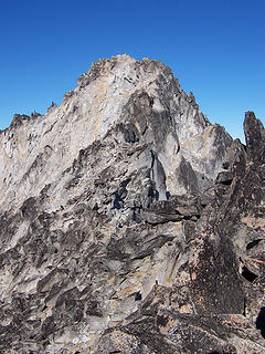 Mt. Stuart's summit from the False summit.