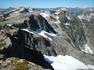 Phillips main peak seen from Phillips south peak