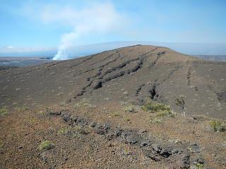 Kilauea seen from Mauna Ulu