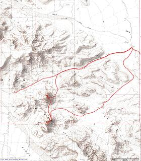 Climbs of Mopah and Umpah with return hike loop and a trip up to Gary Divide/Mopah Spring