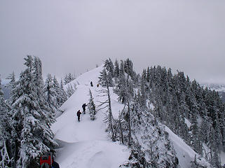 Heading to the south summit