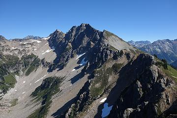 """Plummer Mountain.  Beckey says it's """"in an area of little mountaineering interest"""" but I bet the view is great."""