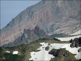 Close Up of Echo Rock, as seen from the trail to Tolmie Lookout, 8.1.09.