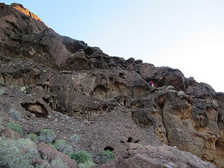 Dave on the crux