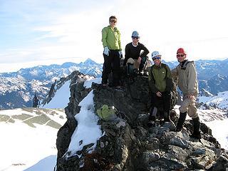 Heather, Yana, Dicey, & Gabriel at the summit