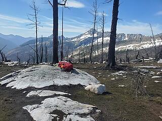 Gear stowe at Butte Pass