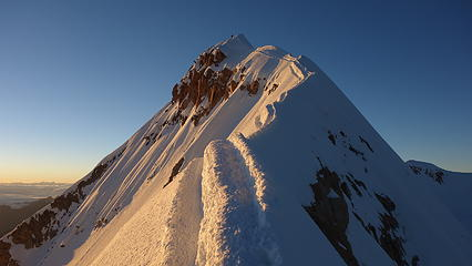 The money shot! Summit ridge at sunrise