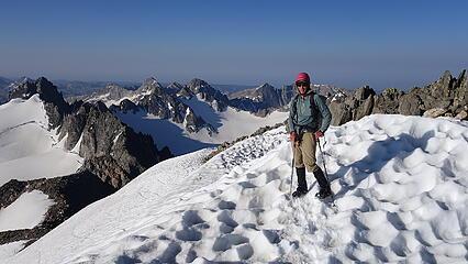 Eric happy nearing the summit