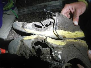 Josh's shoes after the trip