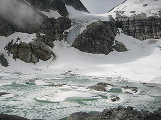 Borealis glacier and lake