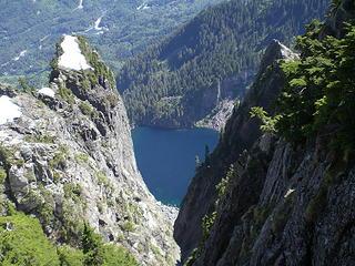 Lake Serene framed through the gap.