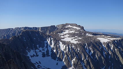 North side of Cloud Peak from the summit