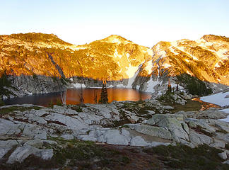 Sunset on Upper Robin Lakes