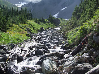 view toward headwaters of White Creek