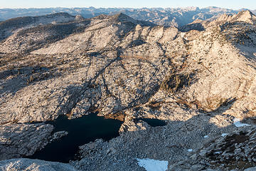 lake 9820 from mt hoffman 10,850