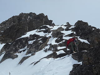 Neil with the summit behind