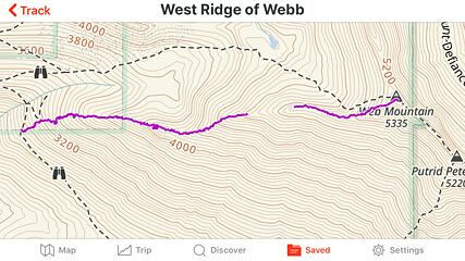 the ridge itself is about 1.3 miles, and 2,350 feet of elevation gain