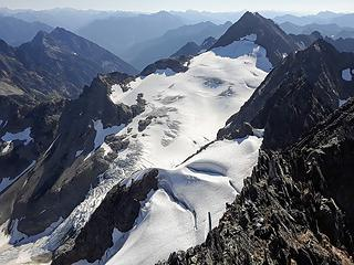 middle cascade glacier from above