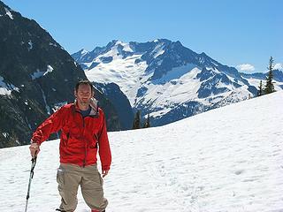 Last view back to Mt. Logan & Douglas Glacier