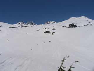 The stream basin leading to the upper Railroad Grade (from ~4600 ft)