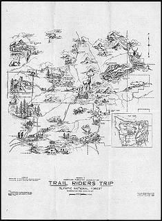 Trail Riders Trip, USFS map