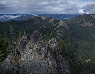 View to French Chin, French Tongue, and Kachess Ridge