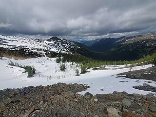 North from Slate Pass