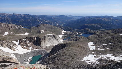 Deep Creek basin to the northeast from the summit