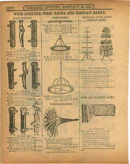 1913 Hibbard Spencer Bartlett & Co. Catalog Whip Sockets ad pp 1377