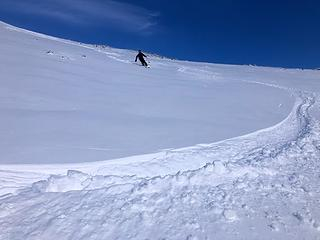 More skiing down to Auburn Creek (photo by Fred)
