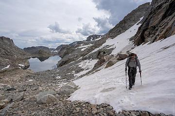 first snow climb