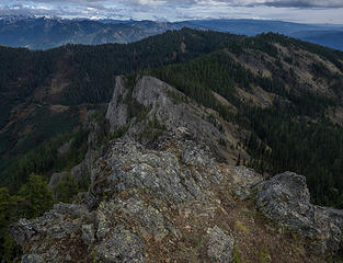 East ridge to Middle and South Peaks