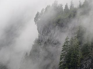 Ledges in the fog