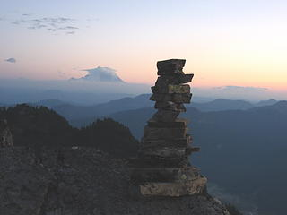 cairn & rainier at Rampart edge