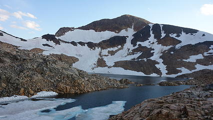 Iceberg Peak and Lake