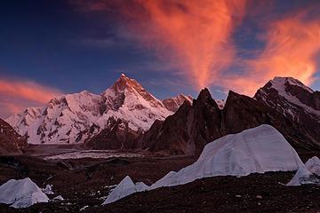 Masherbrum (25,660ft), the world's 22nd highest peak. Karakorams, Pakistan (July 20, 2013)